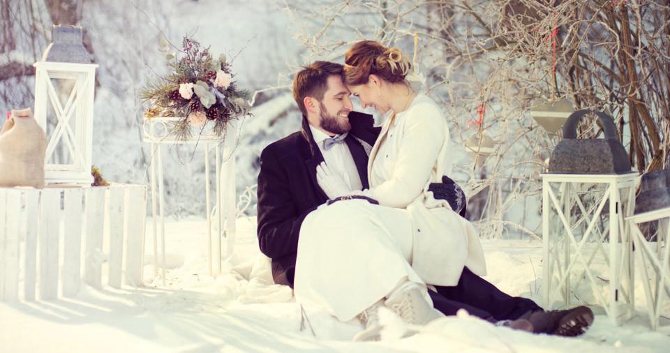 Zimowy Plener Ślubny Pauliny i MArcina